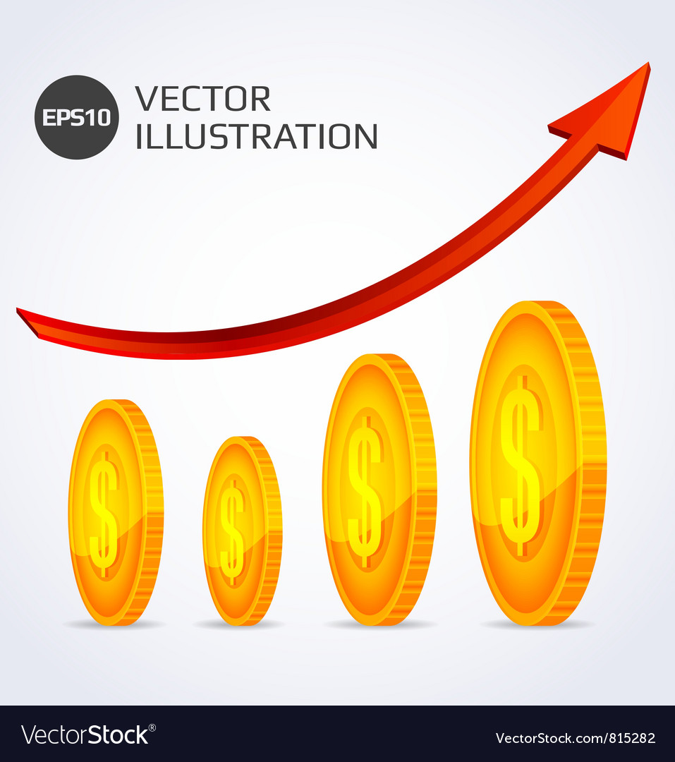 Finance growth abstract vector | Price: 1 Credit (USD $1)