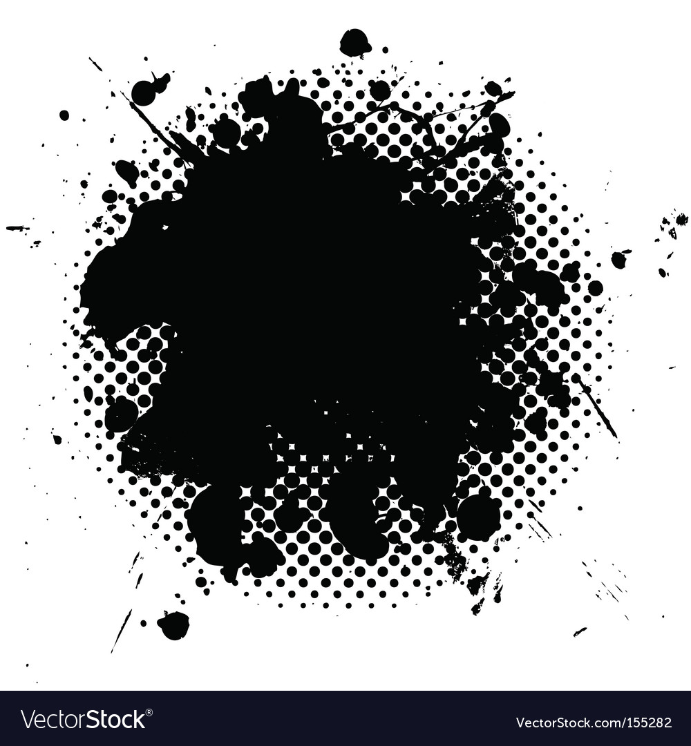 Halftone grunge ink splat black vector | Price: 1 Credit (USD $1)