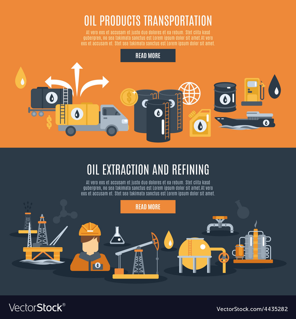 Oil industry banner vector | Price: 1 Credit (USD $1)