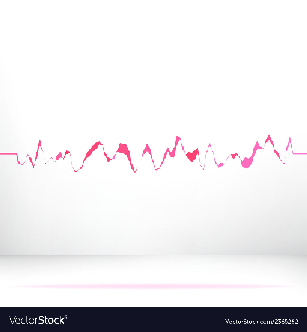Red pink waveform background  eps8 vector | Price: 1 Credit (USD $1)