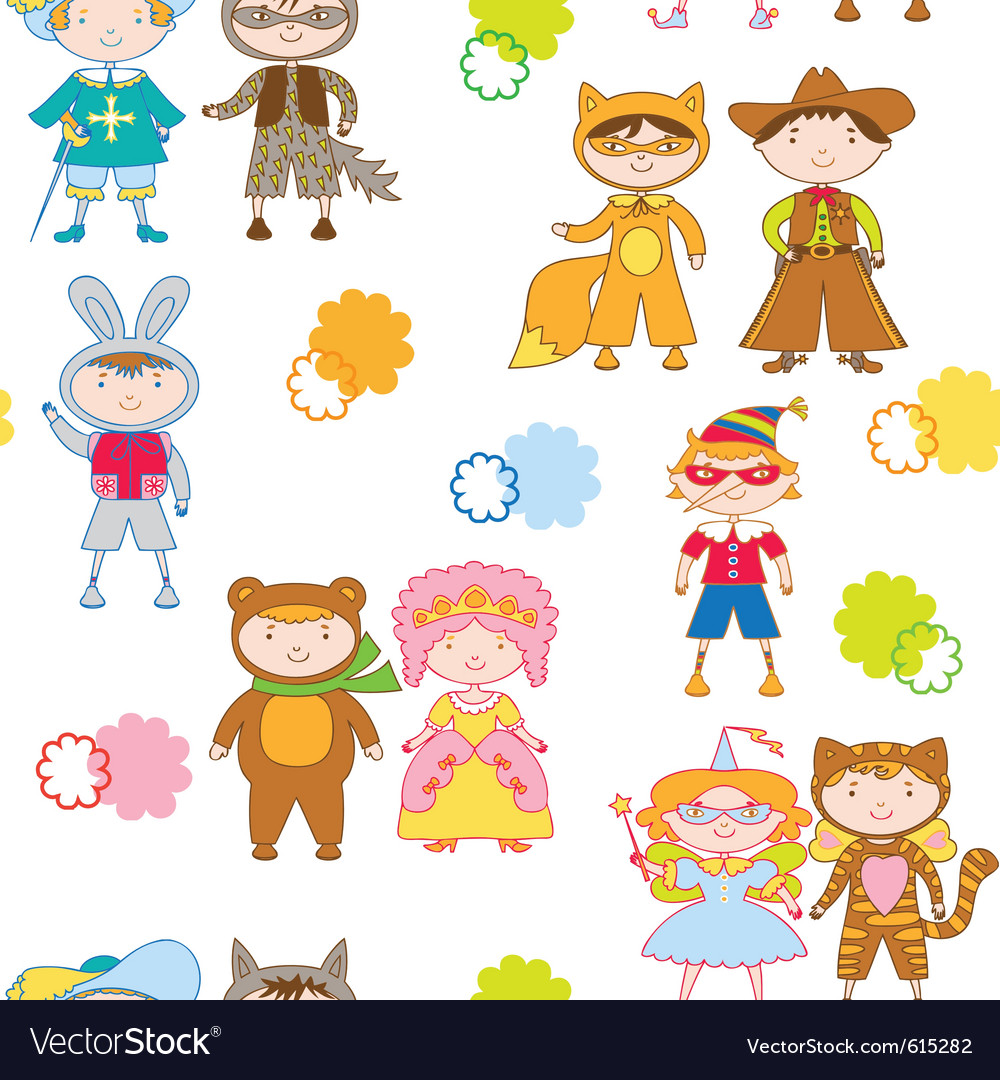Seamless children vector | Price: 1 Credit (USD $1)