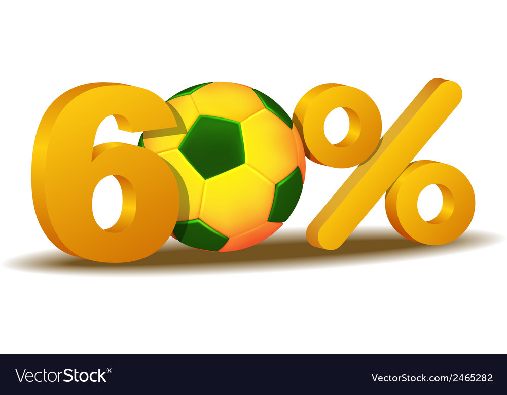 Sixty percent discount icon vector | Price: 1 Credit (USD $1)