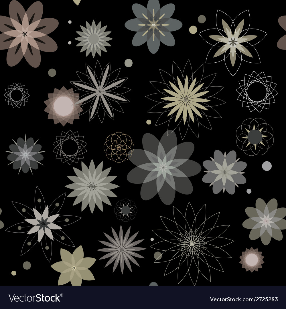 Abstract flowers a seamless pattern wallpaper vector | Price: 1 Credit (USD $1)