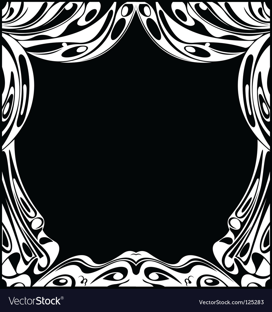 Black and white theatrical curtains vector | Price: 1 Credit (USD $1)