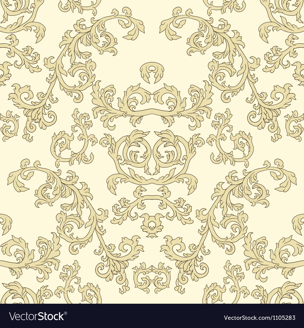 Damask seamless patterns vector | Price: 1 Credit (USD $1)