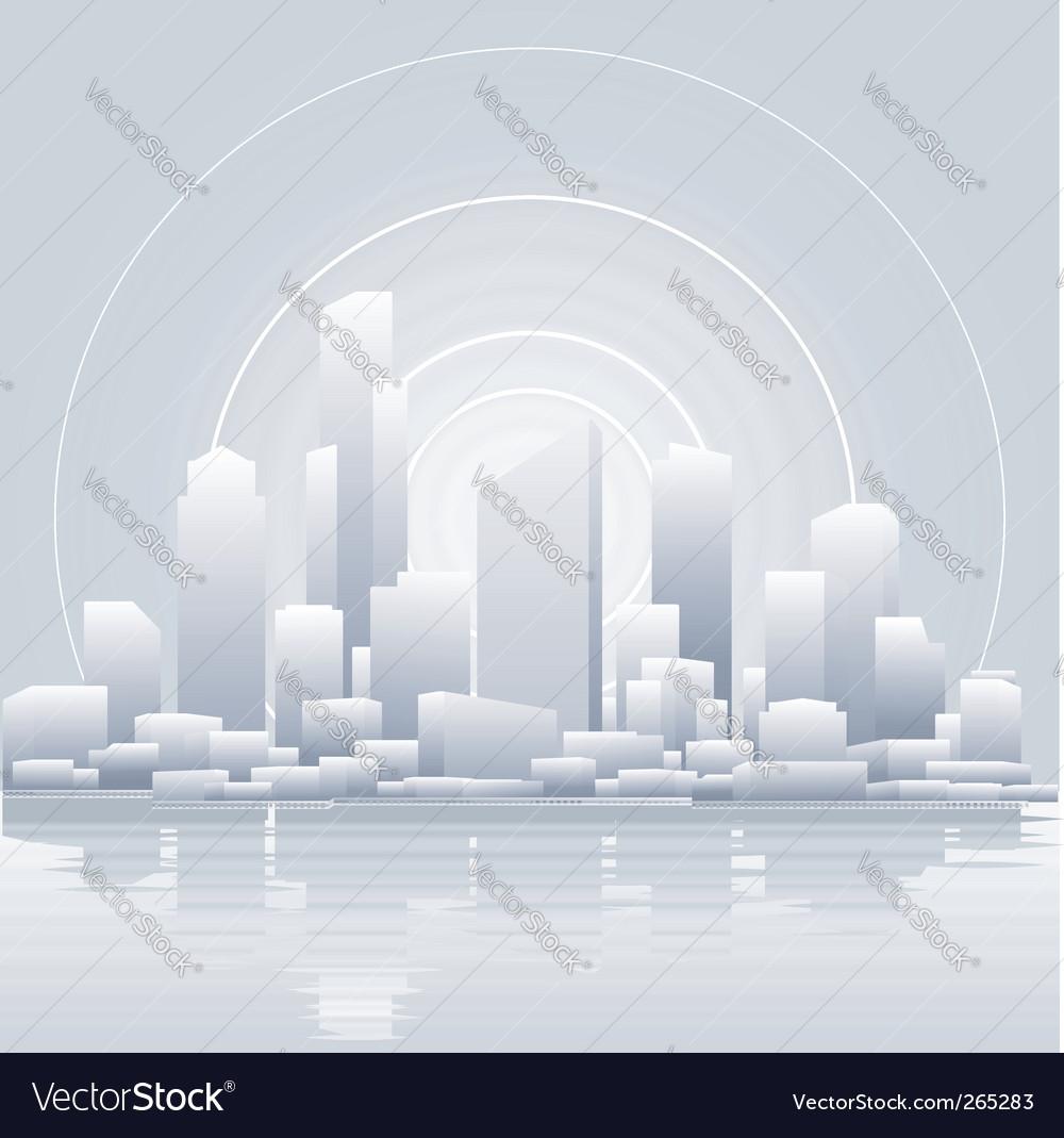 Grey city vector | Price: 1 Credit (USD $1)