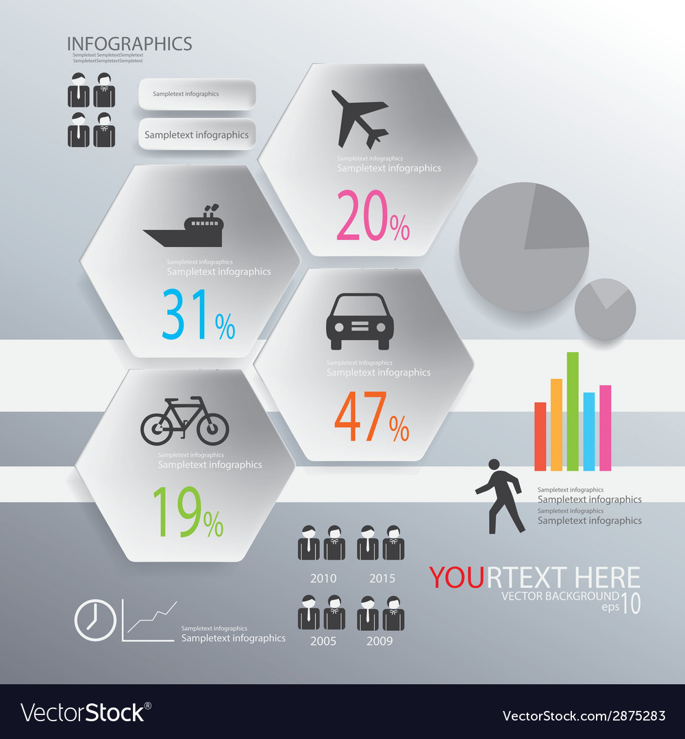 Infographic transportion background vector | Price: 1 Credit (USD $1)