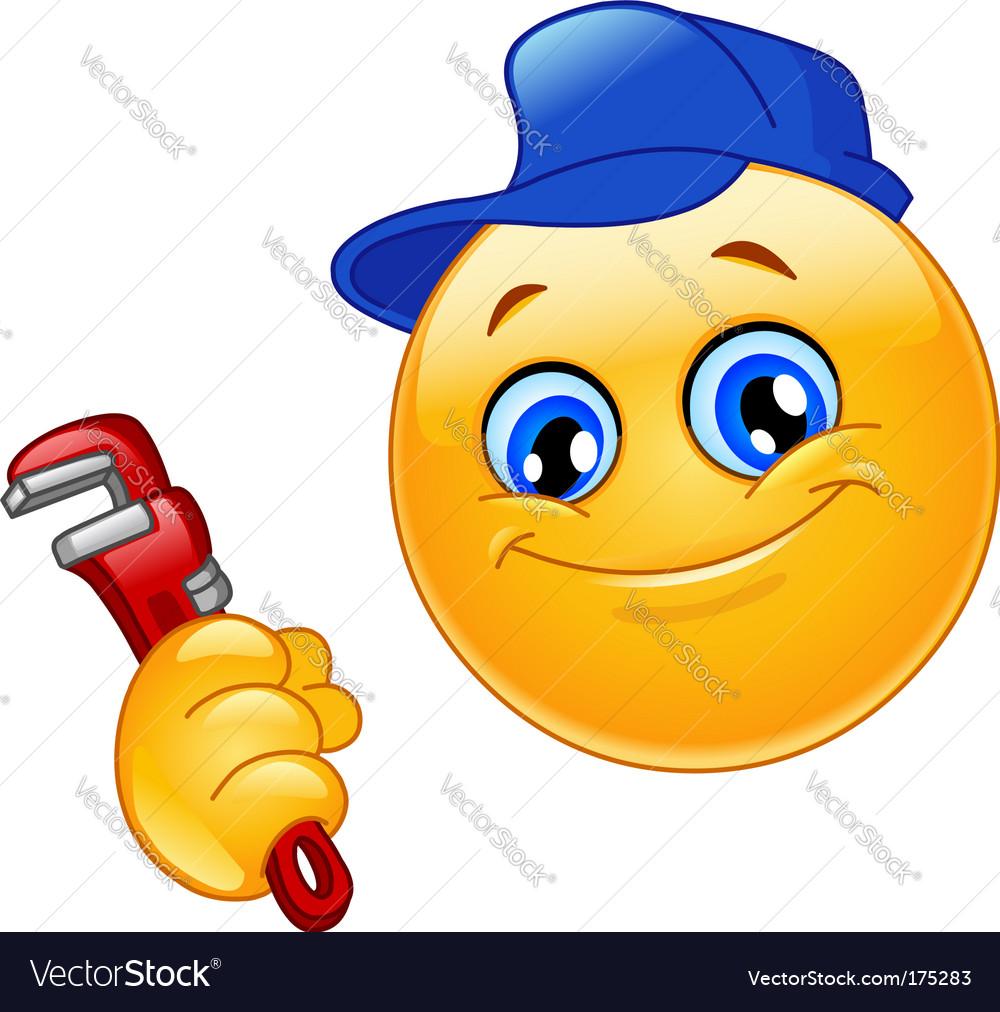 Plumber emoticon vector | Price: 1 Credit (USD $1)