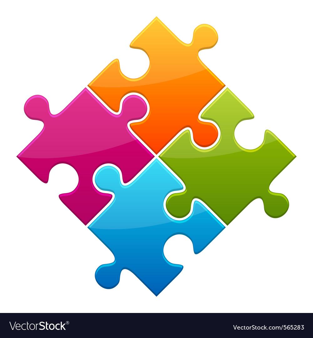 Puzzle icon vector | Price: 1 Credit (USD $1)