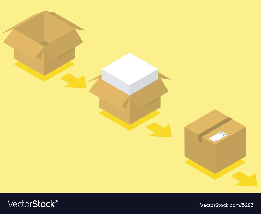 Shipping box vector | Price: 1 Credit (USD $1)