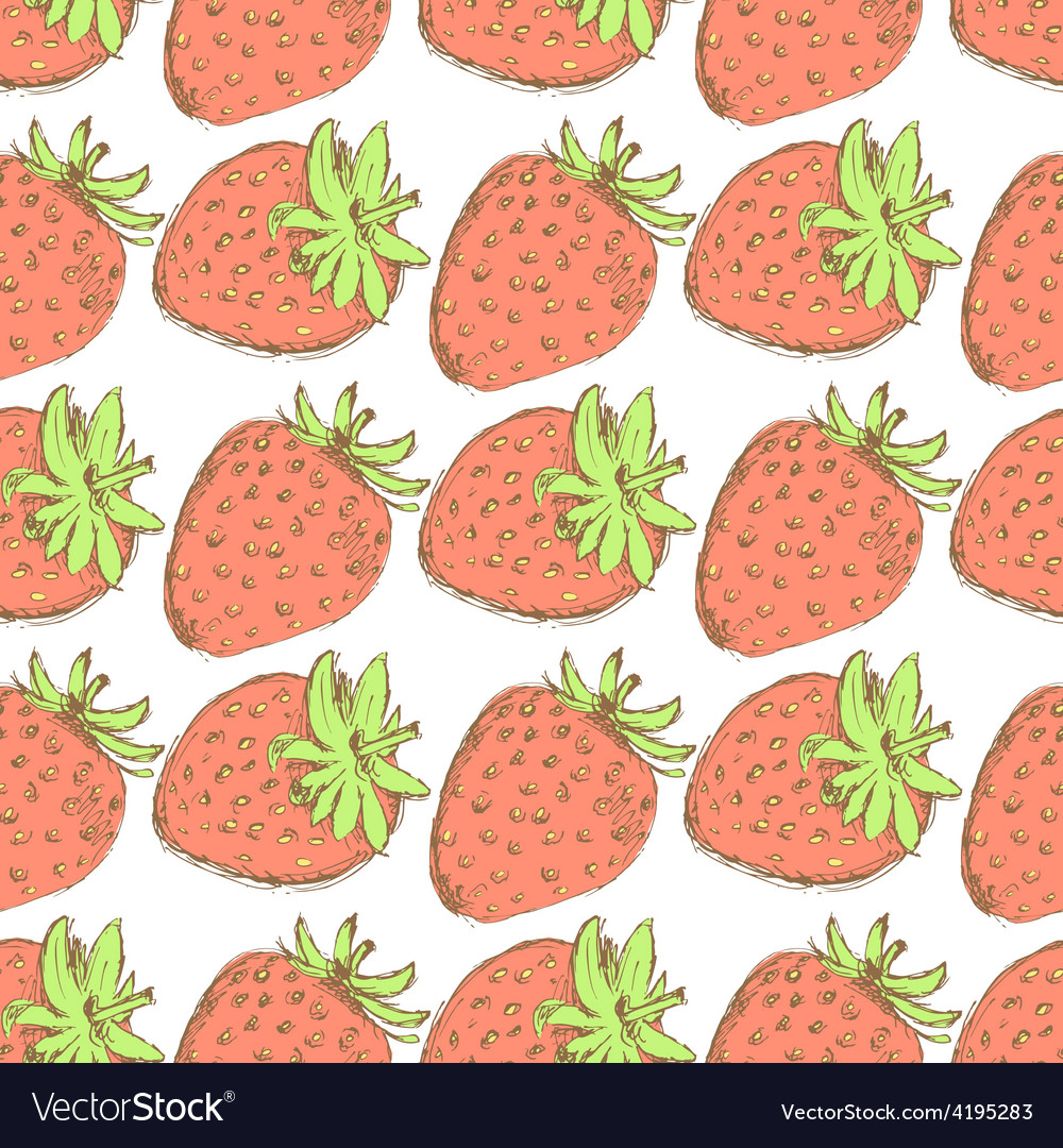 Sketch tasty strawberry in vintage style vector | Price: 1 Credit (USD $1)
