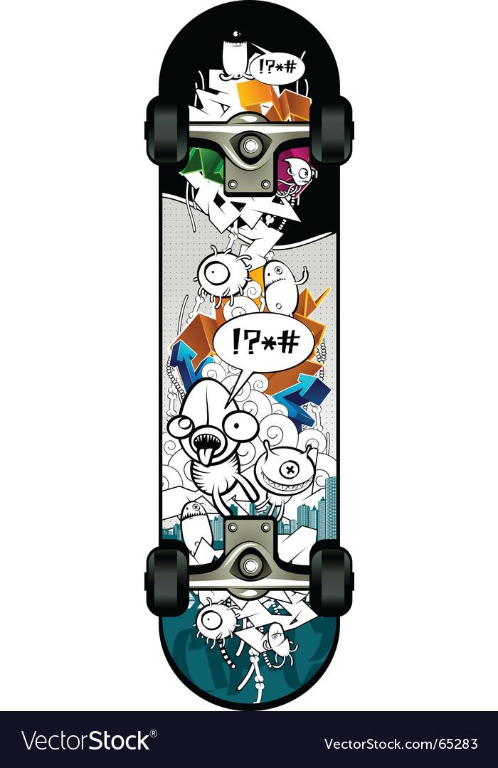 Strange graffiti skateboard vector | Price: 3 Credit (USD $3)