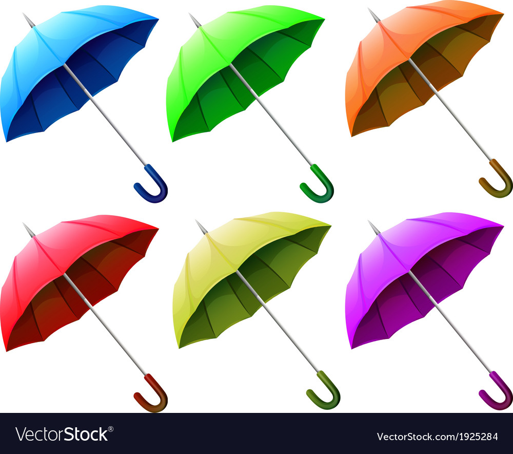 A group of umbrellas vector | Price: 1 Credit (USD $1)