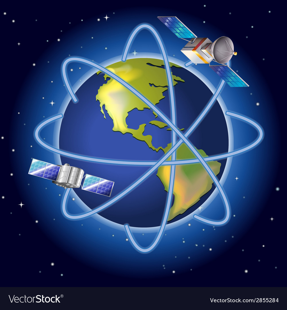 A planet with satellites vector   Price: 1 Credit (USD $1)