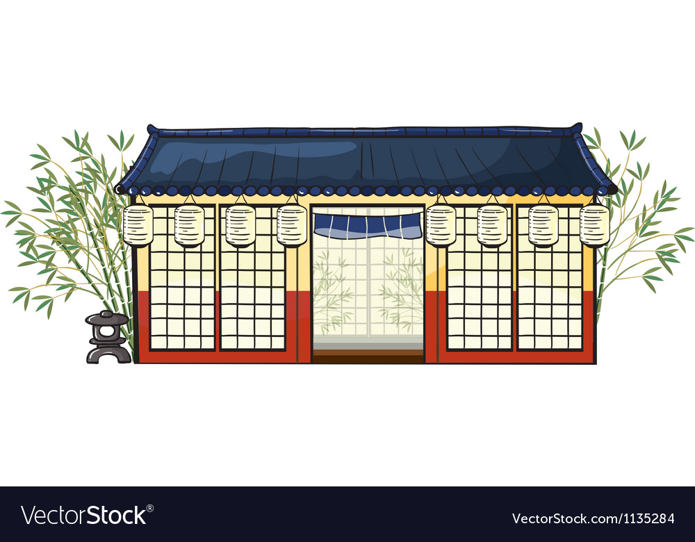 An asian house vector | Price: 1 Credit (USD $1)