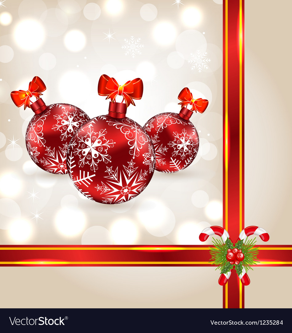 Celebration background with christmas balls and vector | Price: 1 Credit (USD $1)