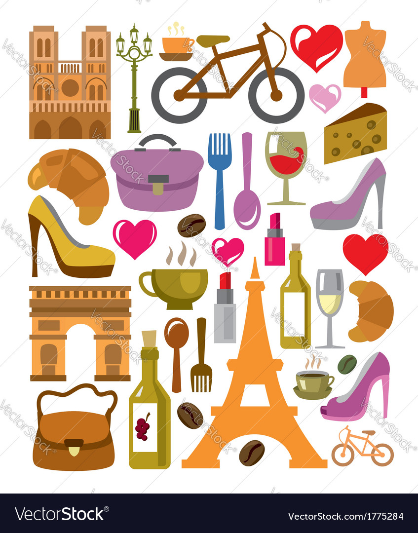 France icons set vector | Price: 1 Credit (USD $1)