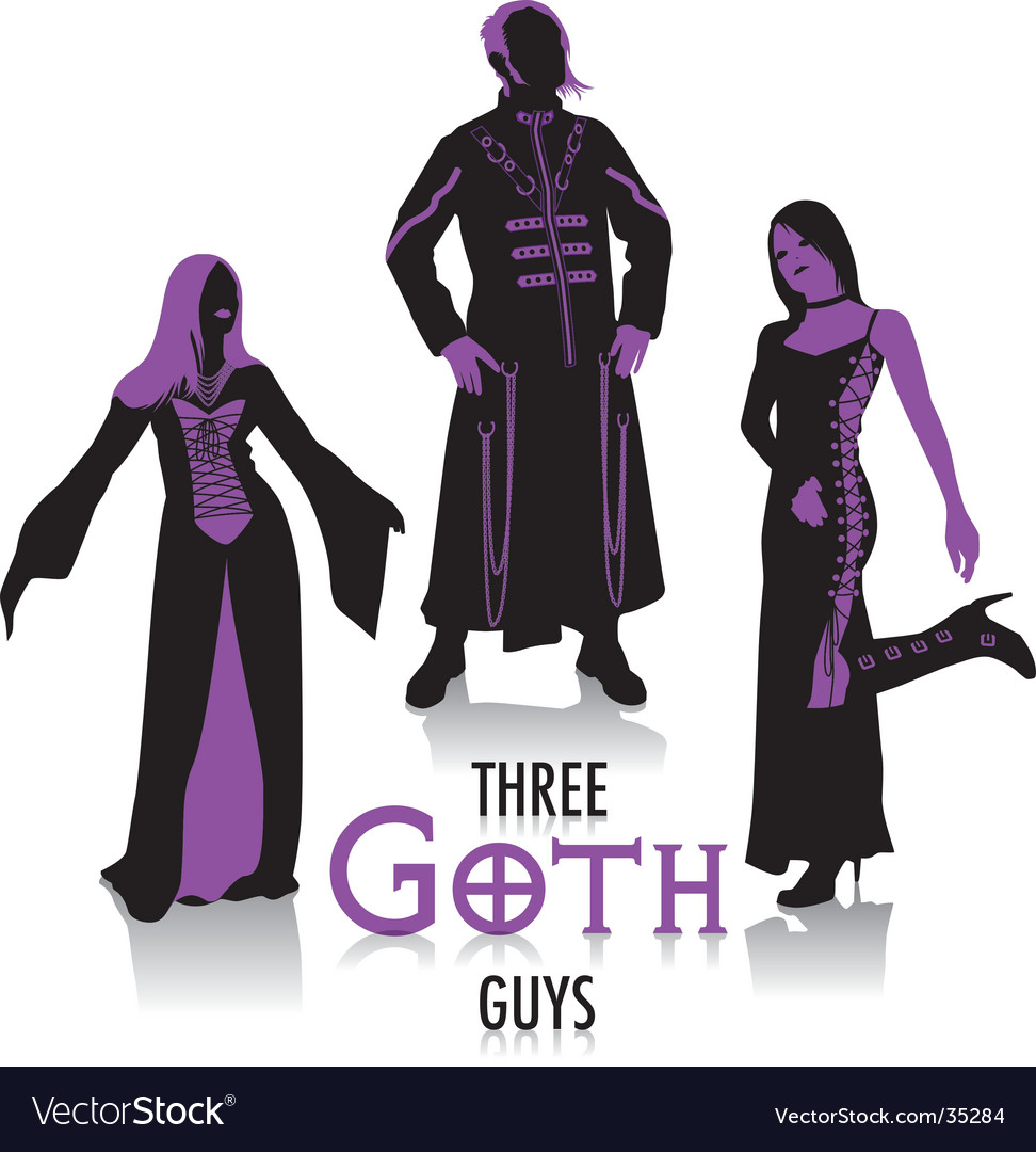Goth silhouettes vector | Price: 1 Credit (USD $1)