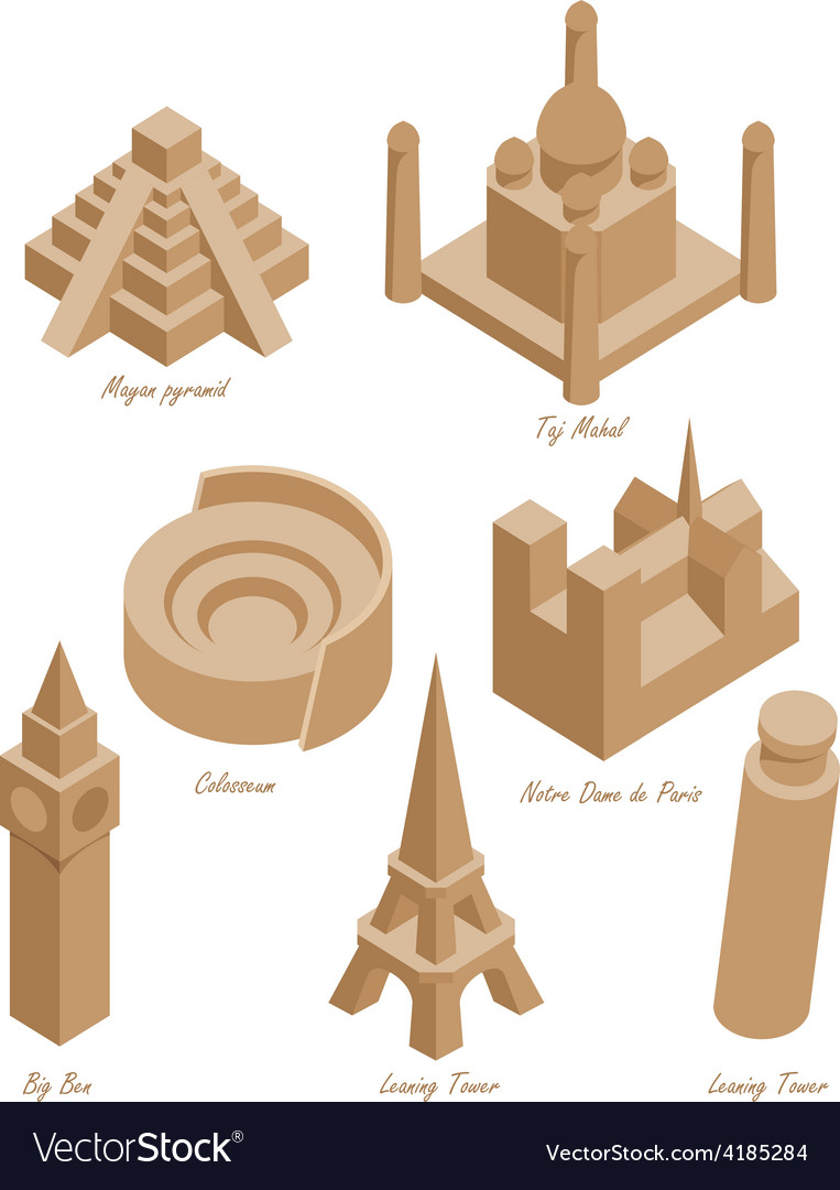 Landmark set vector | Price: 1 Credit (USD $1)