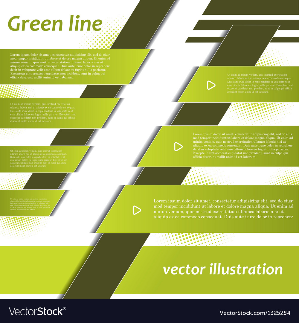 Modern green infographics design vector | Price: 1 Credit (USD $1)