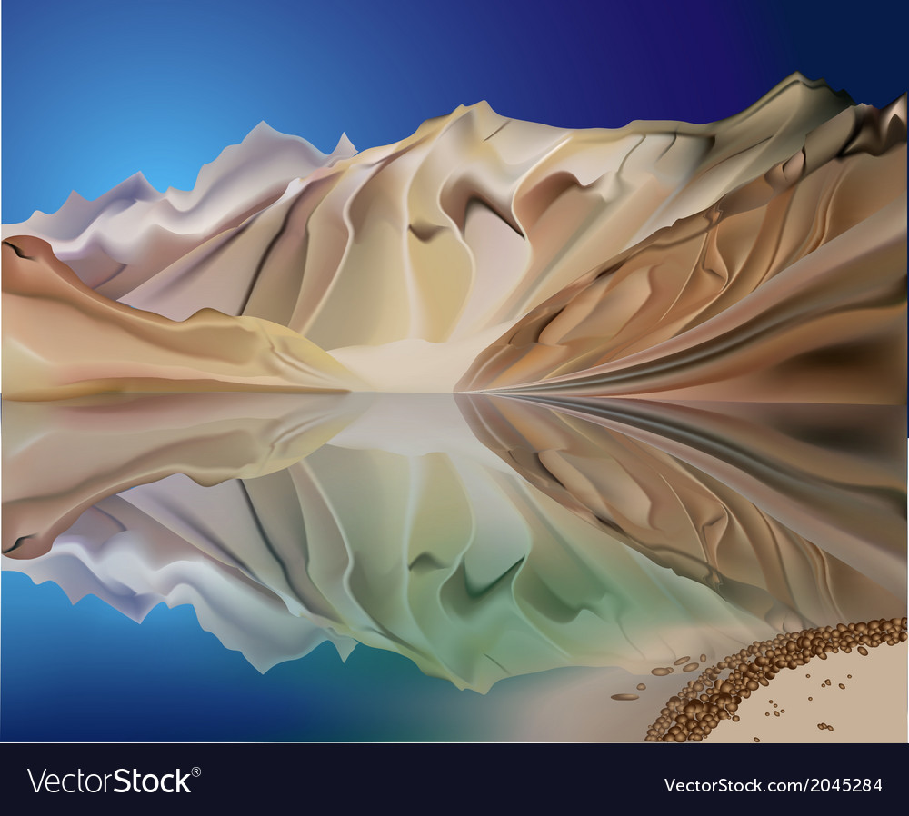 Mountain landscape reflection vector | Price: 3 Credit (USD $3)