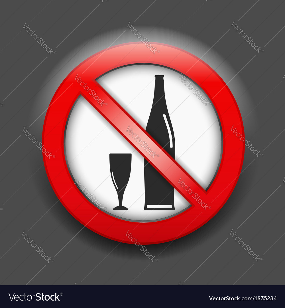 No alcohol sign vector | Price: 1 Credit (USD $1)