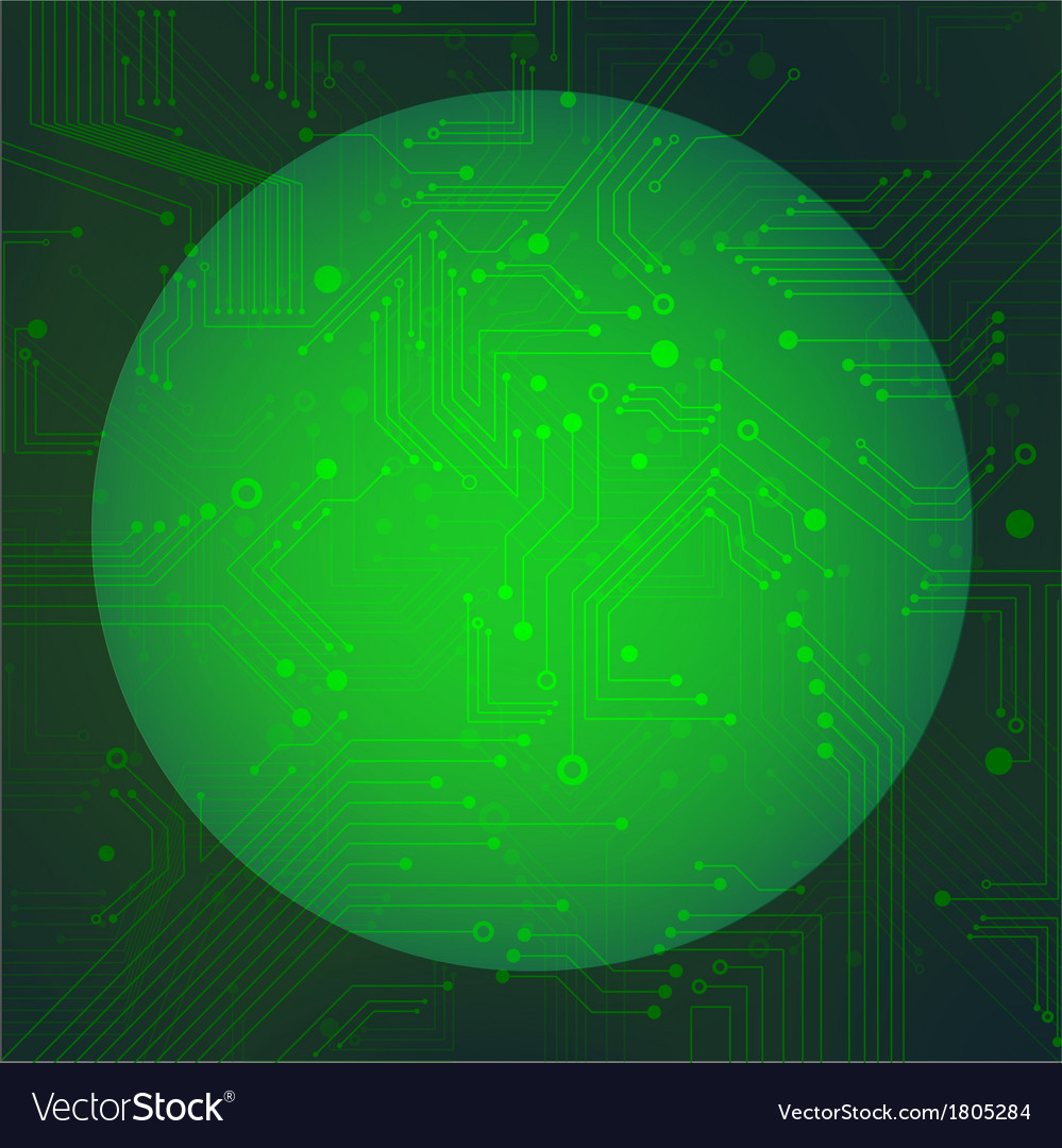 Sphere circuit over green background vector | Price: 1 Credit (USD $1)