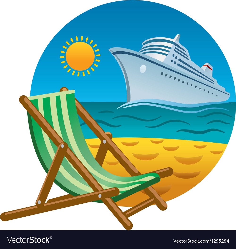 Tropical beach icon vector | Price: 3 Credit (USD $3)