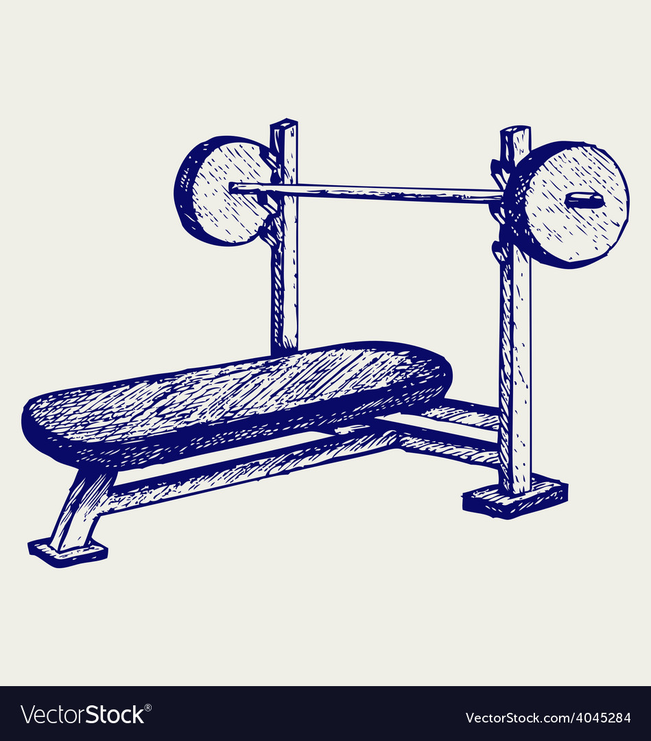 Weight bench for chest flat vector | Price: 1 Credit (USD $1)