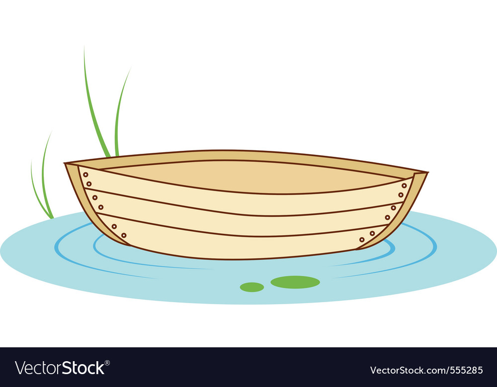 Boat on a pond vector | Price: 1 Credit (USD $1)