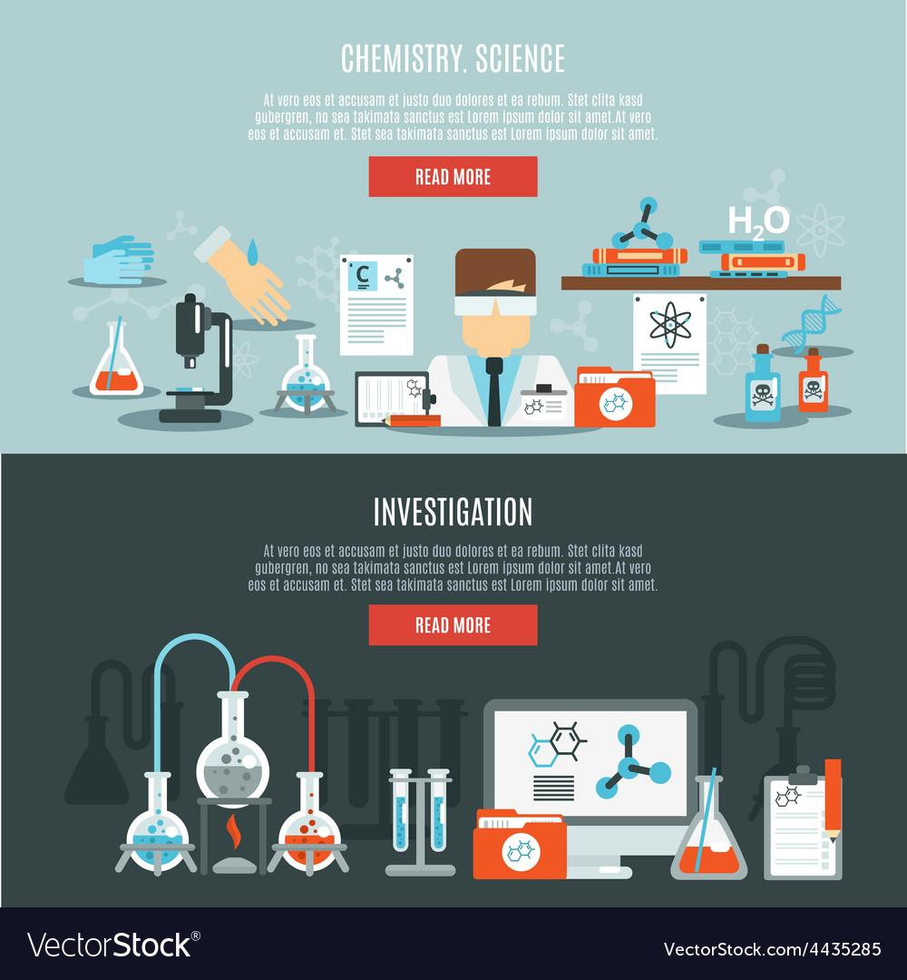 Chemistry banner set vector   Price: 1 Credit (USD $1)
