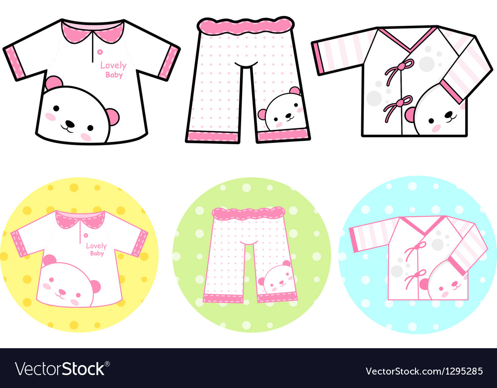 Different styles of tshirt and pants sets vector | Price: 1 Credit (USD $1)