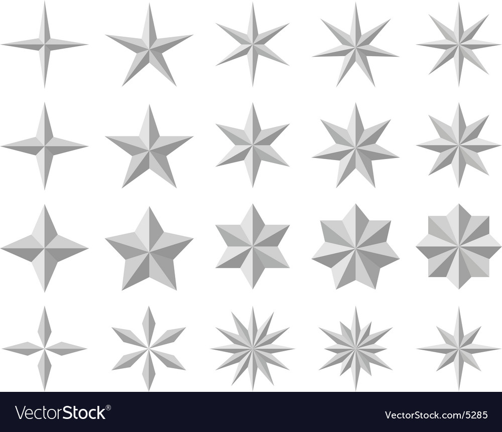 Facet stars vector | Price: 1 Credit (USD $1)