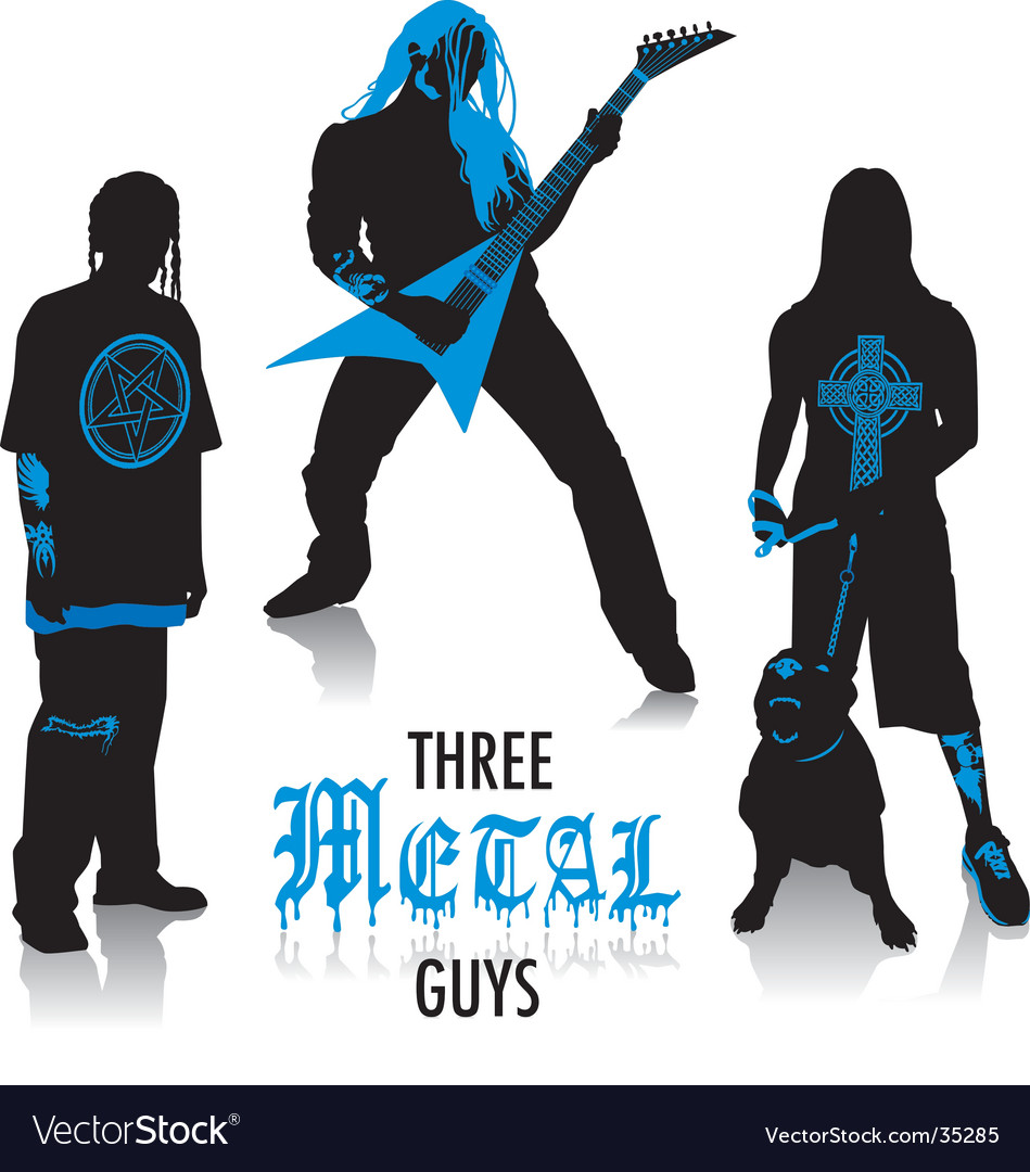 Heavy-metal silhouettes vector   Price: 1 Credit (USD $1)
