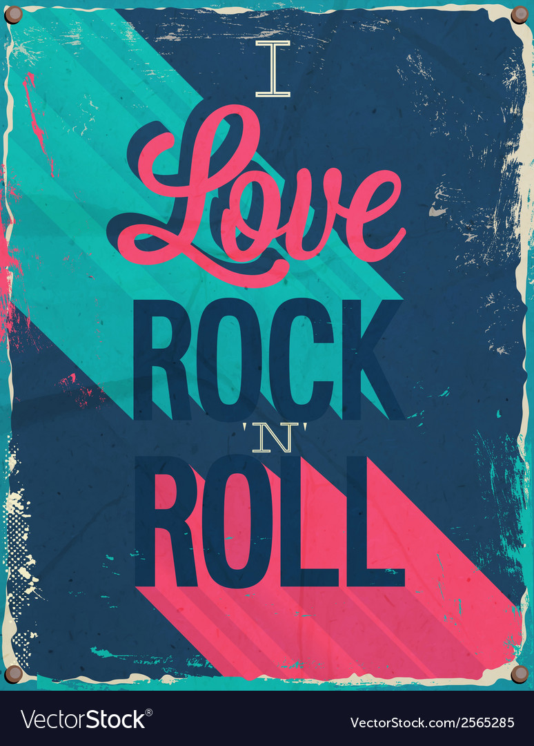 I love rock and roll vector | Price: 1 Credit (USD $1)