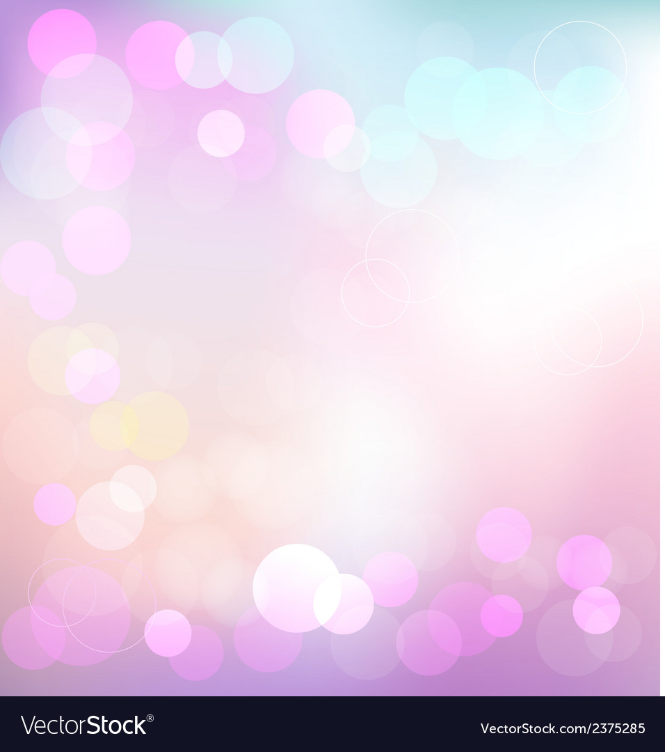 Pastel elegant abstract background with bokeh vector | Price: 1 Credit (USD $1)