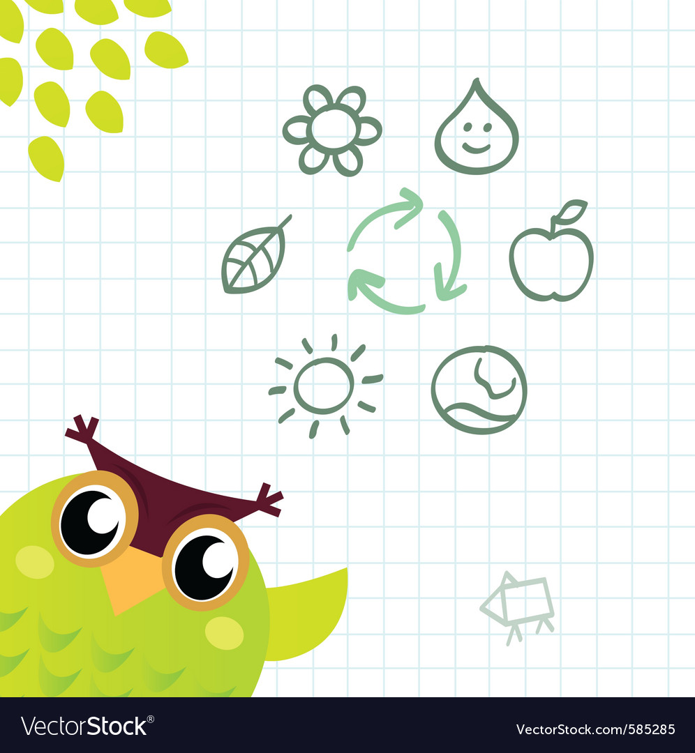Recycle owl vector | Price: 1 Credit (USD $1)