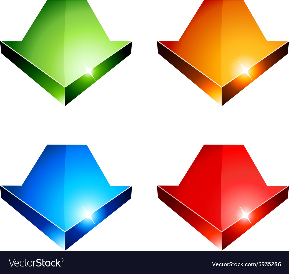 3d arrows vector | Price: 1 Credit (USD $1)