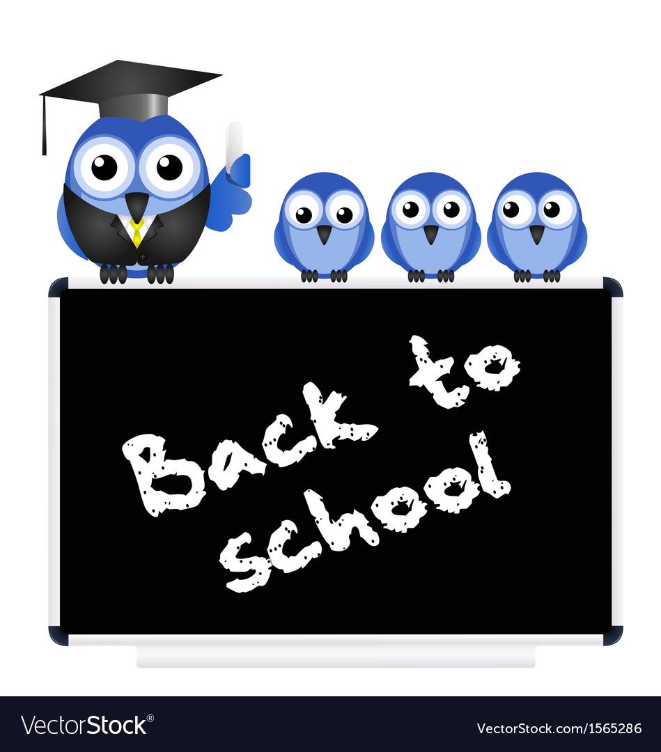 Blackboard back to school vector | Price: 1 Credit (USD $1)