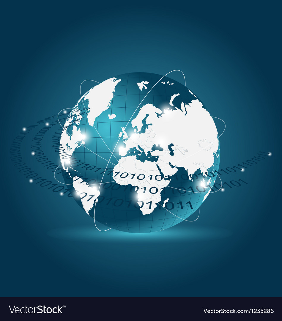 Communication map with earth planet vector   Price: 1 Credit (USD $1)