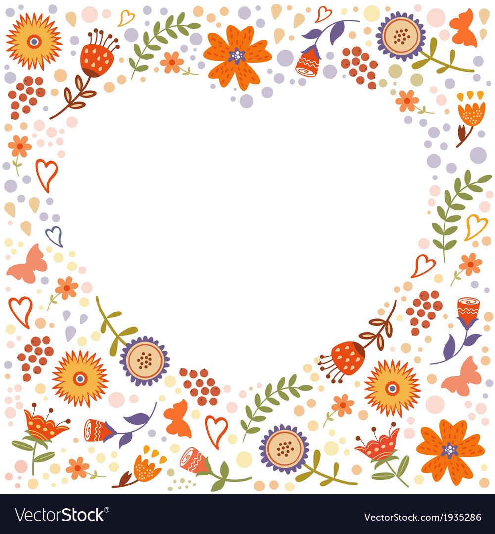 Decorative floral frame vector | Price: 1 Credit (USD $1)