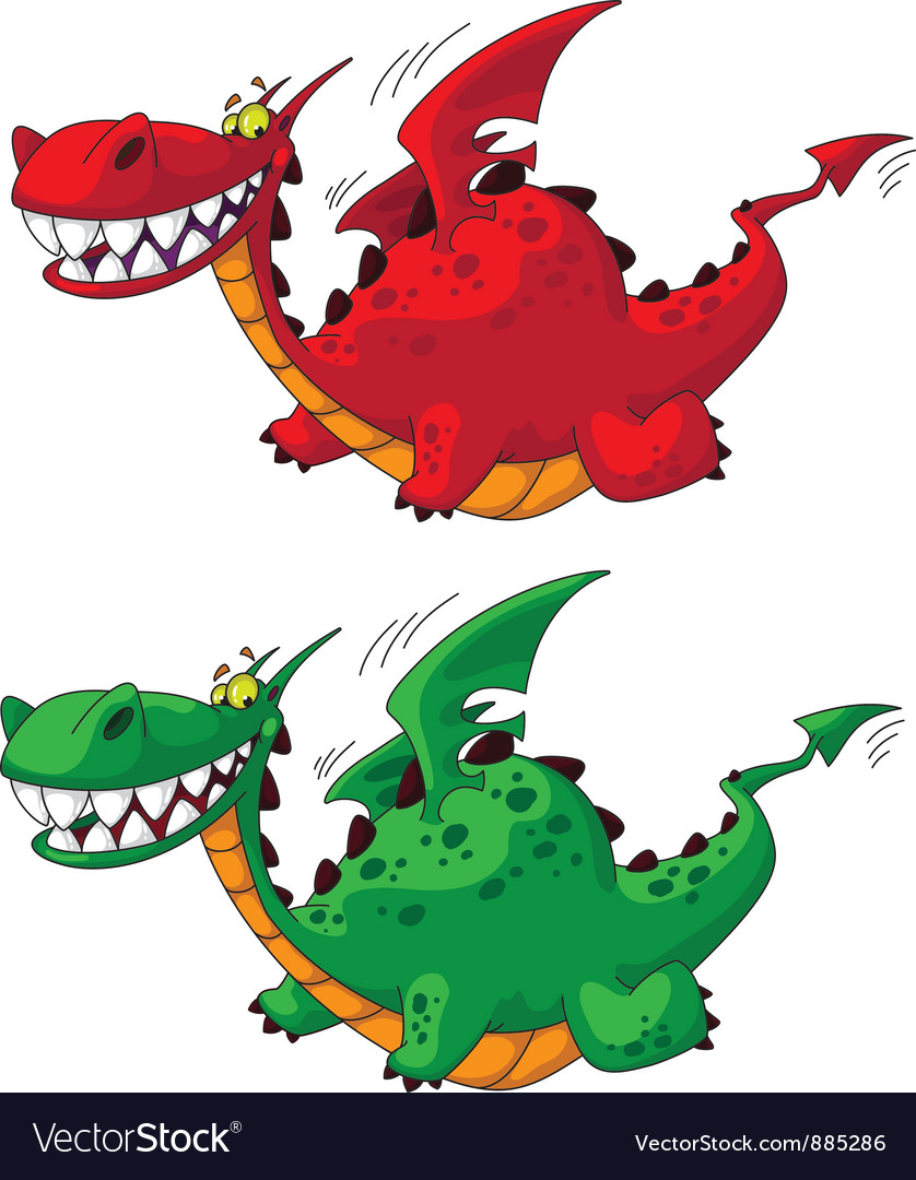 Flying dragon big vector | Price: 3 Credit (USD $3)