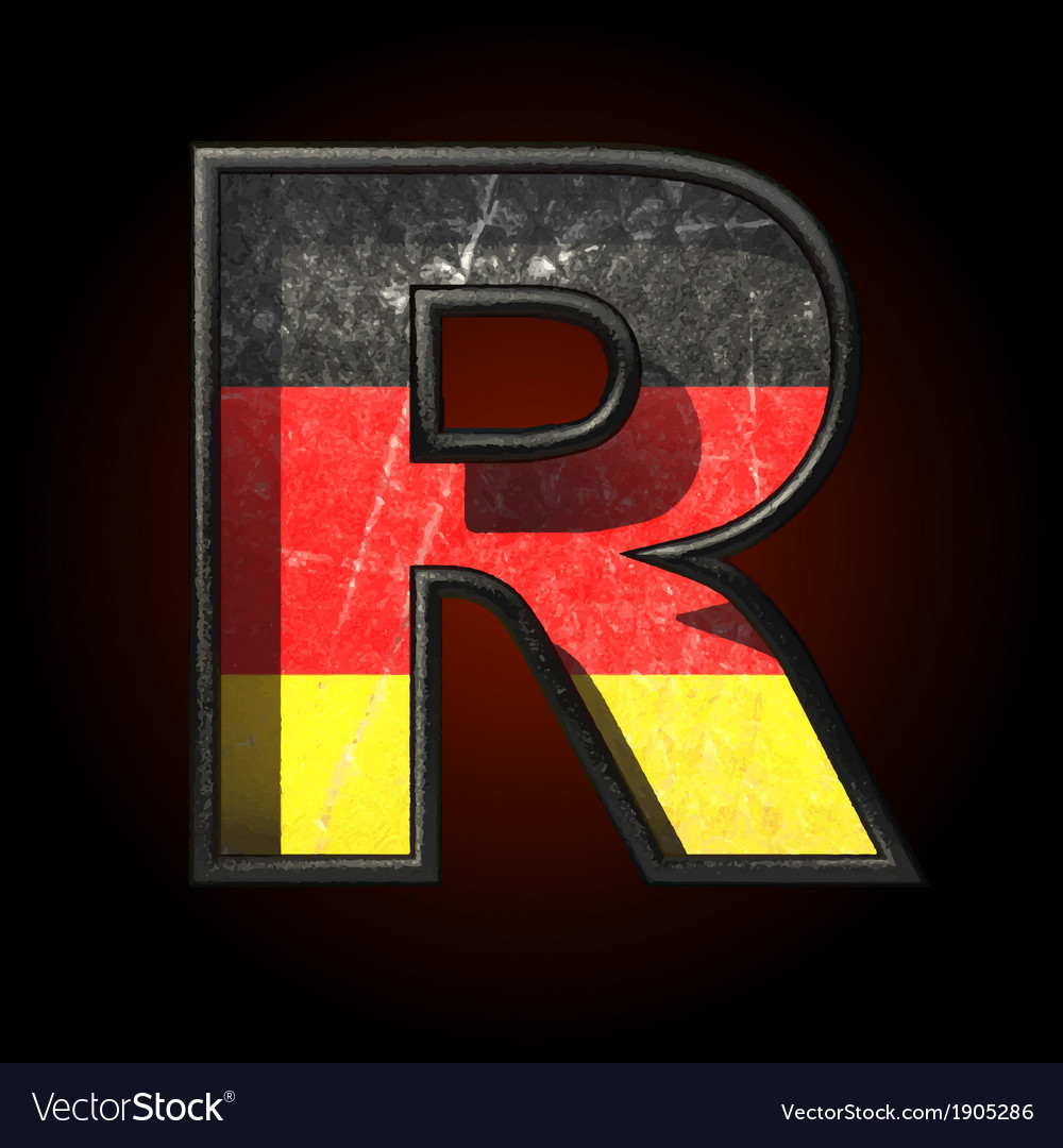 Germany cutted figure r vector | Price: 1 Credit (USD $1)