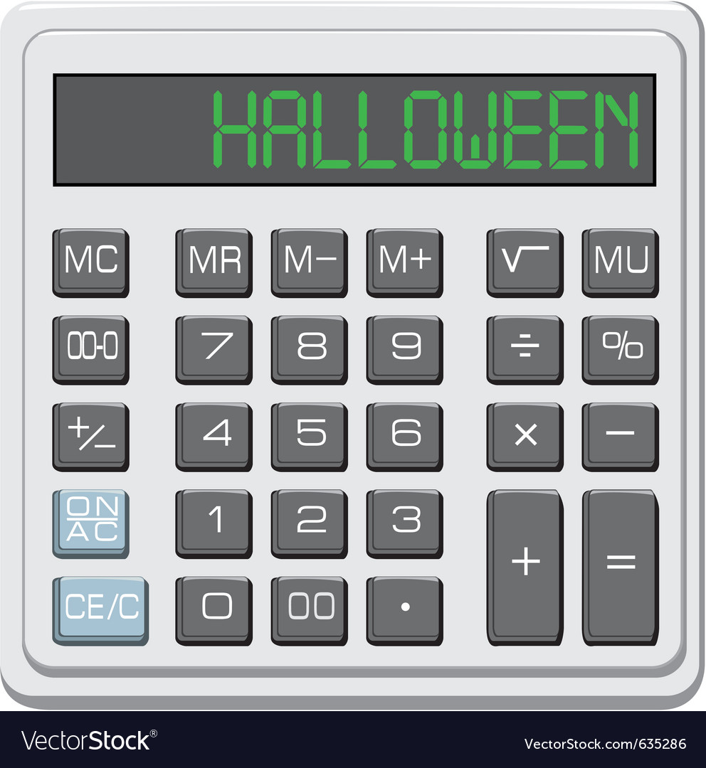 Halloween calculator vector   Price: 1 Credit (USD $1)