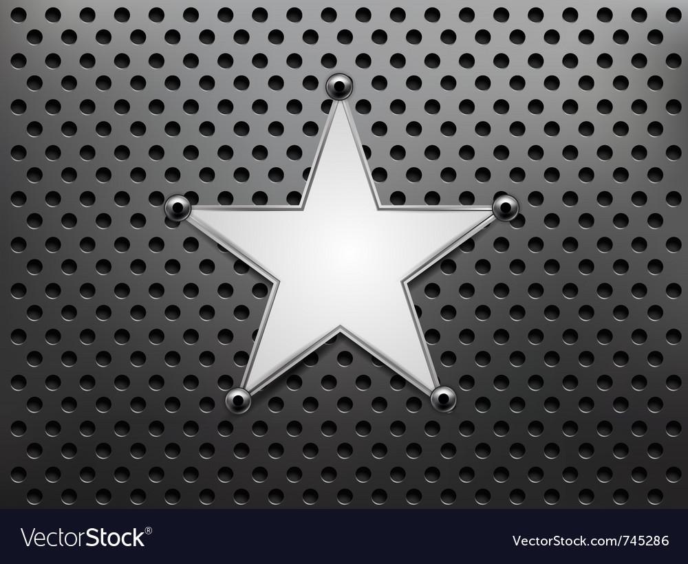 Metallic star background vector   Price: 1 Credit (USD $1)