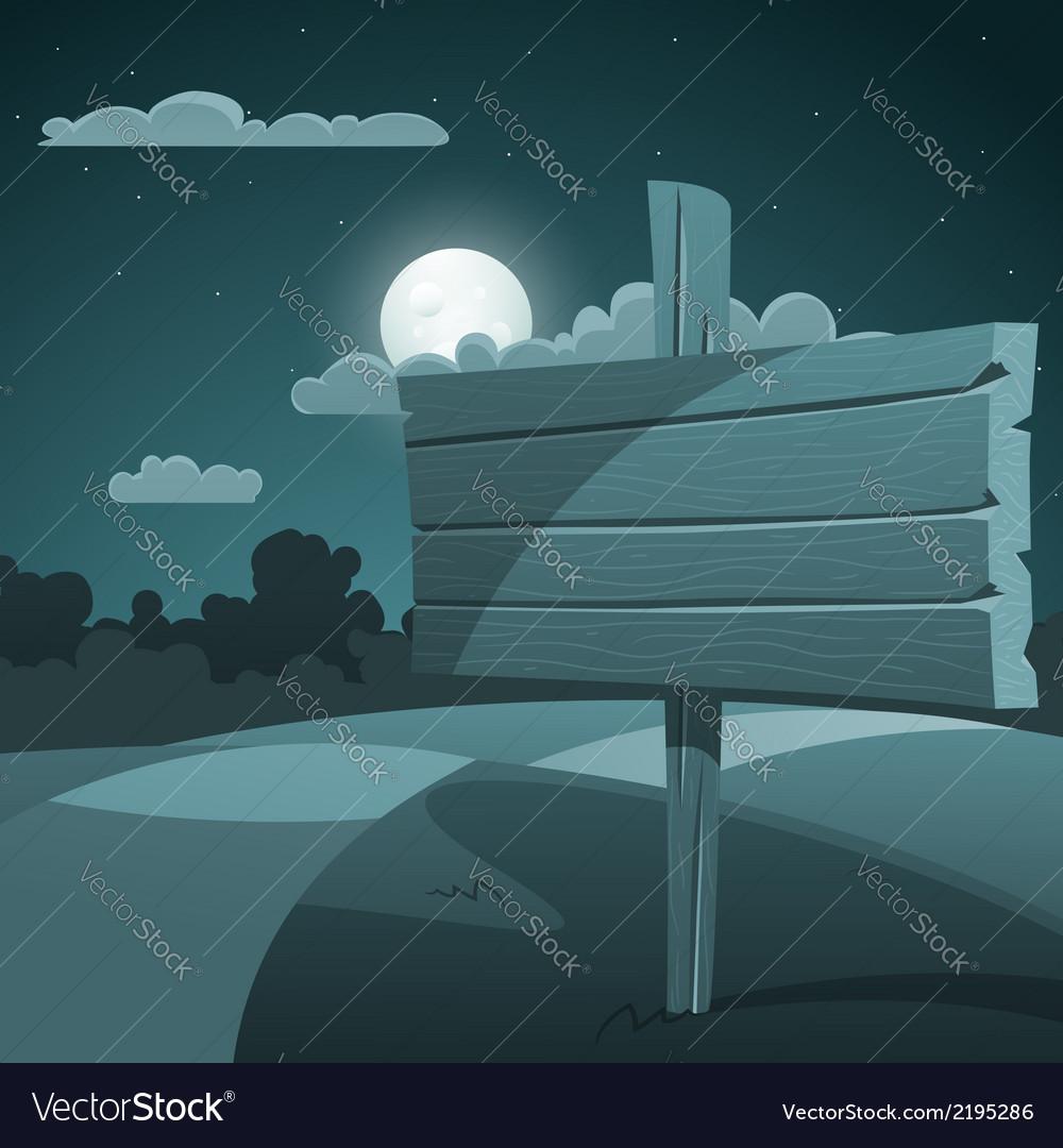 Night landscape vector | Price: 3 Credit (USD $3)