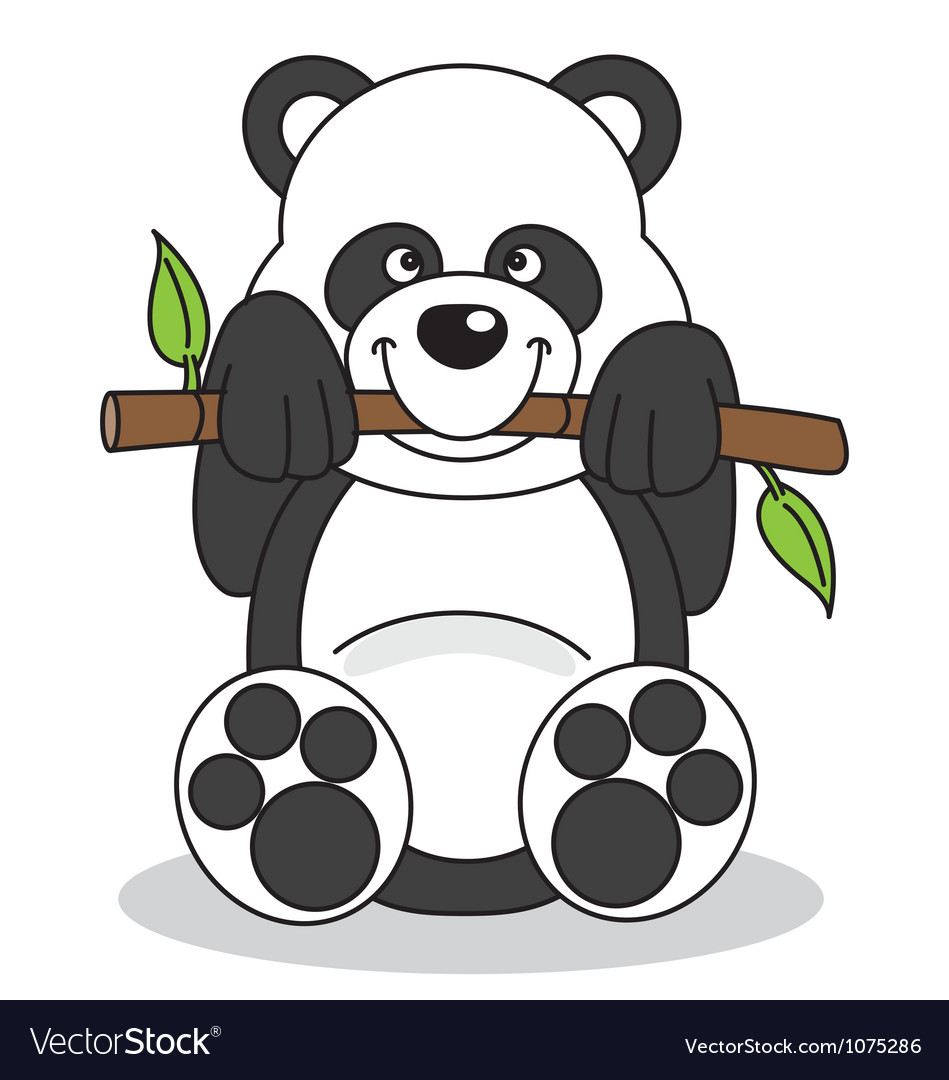 Panda eating bamboo vector | Price: 1 Credit (USD $1)