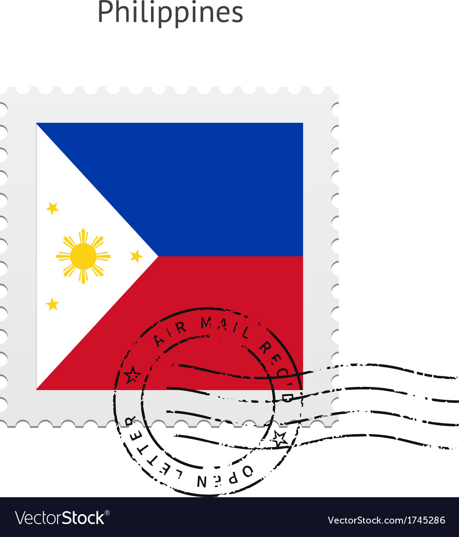 Philippines flag postage stamp vector | Price: 1 Credit (USD $1)