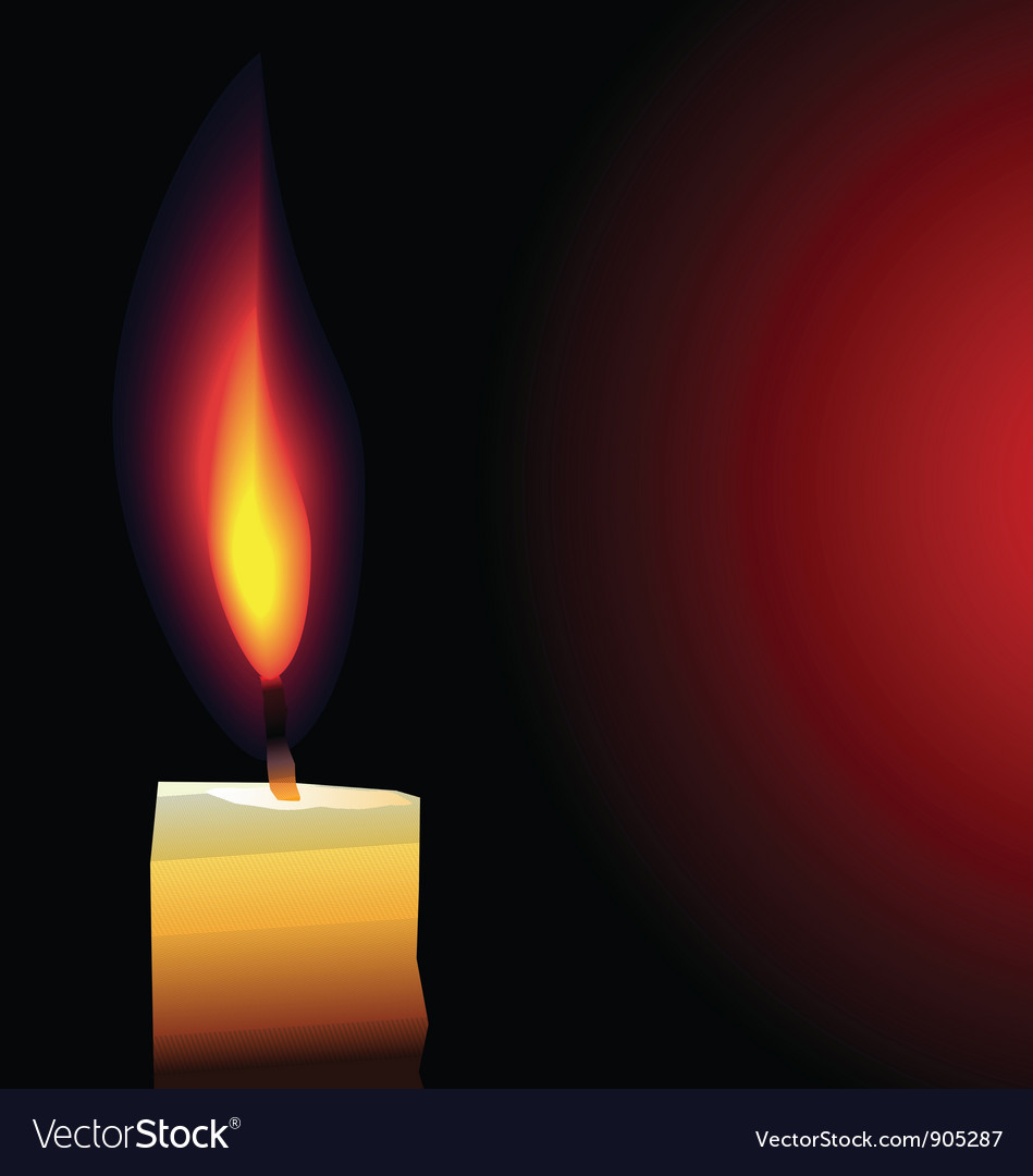 Candle background vector | Price: 1 Credit (USD $1)