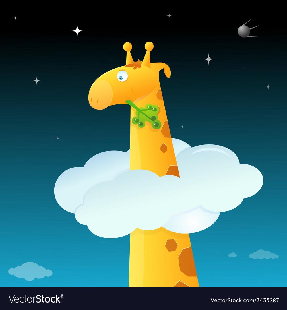 Cartoon giraffe vector | Price: 1 Credit (USD $1)